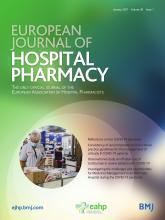 European Journal of Hospital Pharmacy: 28 (1)