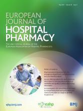 European Journal of Hospital Pharmacy: 28 (3)