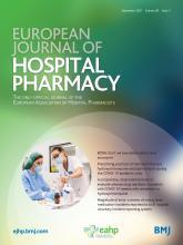 European Journal of Hospital Pharmacy: 28 (5)