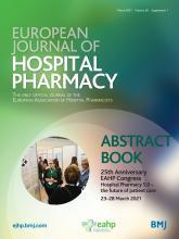 European Journal of Hospital Pharmacy: 28 (Suppl 1)